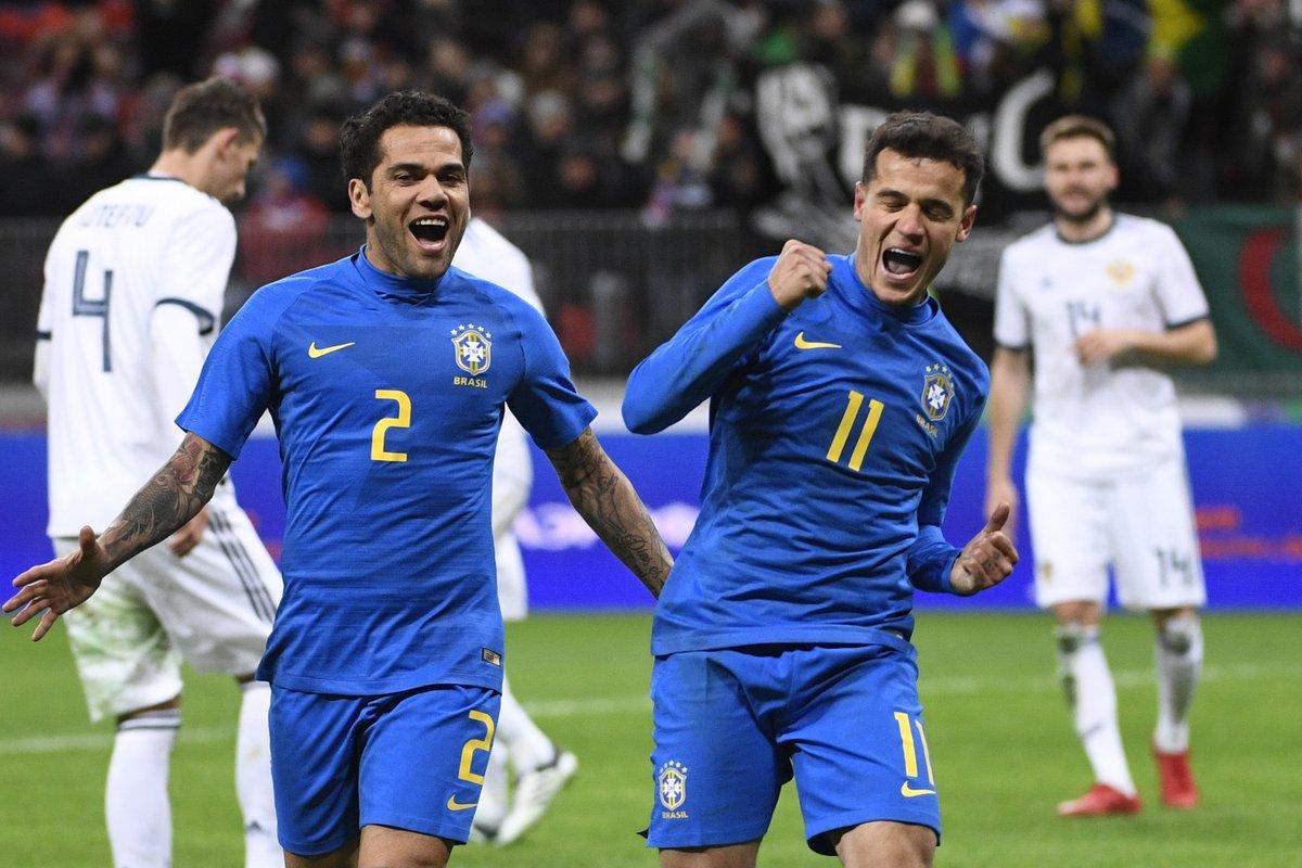Nga vs Brazil: giao hữu quốc tế)