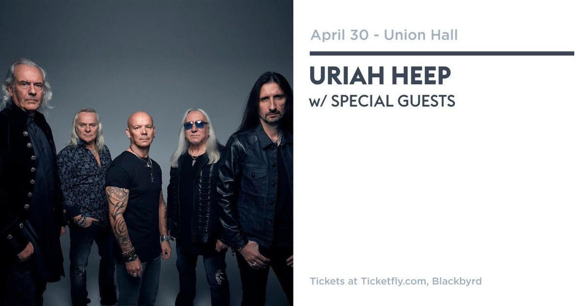 Union hall unionhall twitter or in store myoozik uriahheep uriahatunion union unionhall rock 70s wizard live concert blackbyrd ticketspicittervrnow1etft malvernweather Gallery
