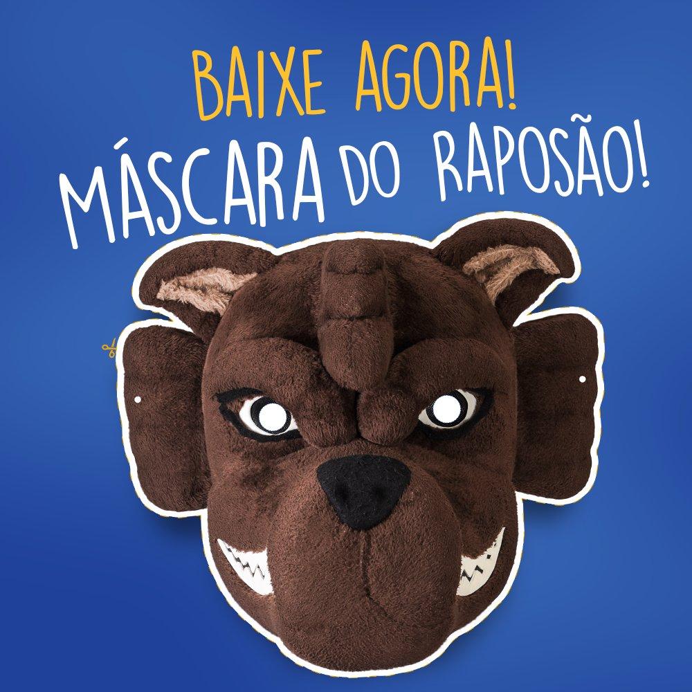 Para comemorar o aniversário do mascote que você respeita, estamos colocando pra vocês baixarem a Máscara do Raposão!  Domingo, após o jogo, ele estará no festival de Food Trucks. Leve a sua máscara e comemore o aniversário do melhor mascote do Brasil!  https://t.co/N5dWSvOLwP