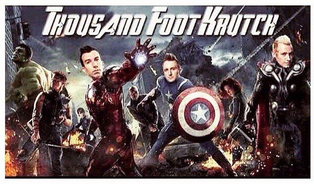 Saving the world one rock show at a time! 👊 😂 #FanPic #tfk #superhero #marvel2
