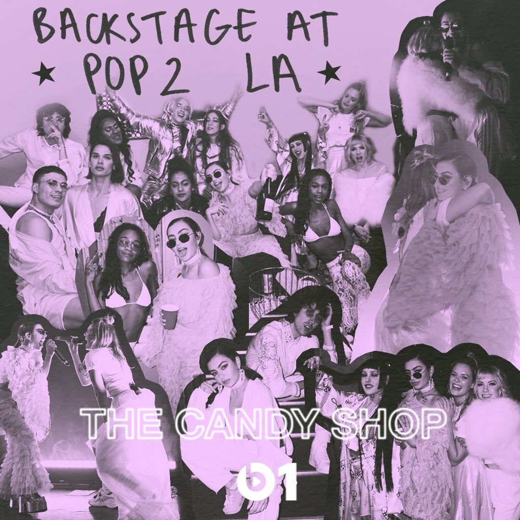 🍬i recorded the last episode of season 3 of #thecandyshop backstage at the pop 2 LA show!🍬 💕check out exclusive interviews from @carlyraejepsen @ToveLo @agcook404 & more plus music from   & @CupcakKe_rapper!@BibiBourelly 💫tune @abrain 2day 12PM LA/3PM NY/7PM LDN on 💕@Beats1