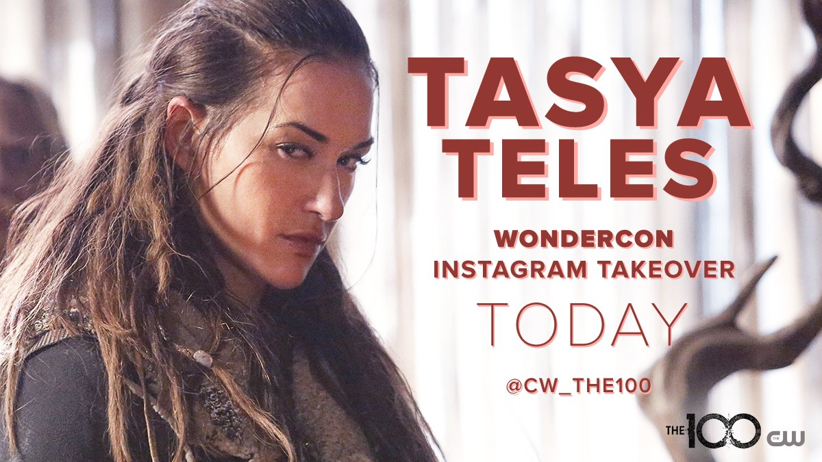 Experience #WonderCon with @tasyateles on #The100 Instagram TODAY: https://t.co/Lkrqq17jo9 https://t.co/f3zM8jS86b