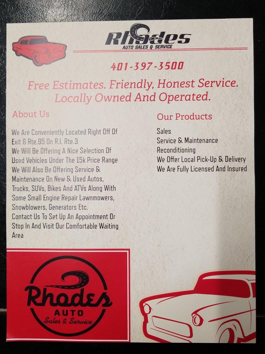 Rhodes Auto Sales >> Rhodes Auto Rhodes Autori Twitter