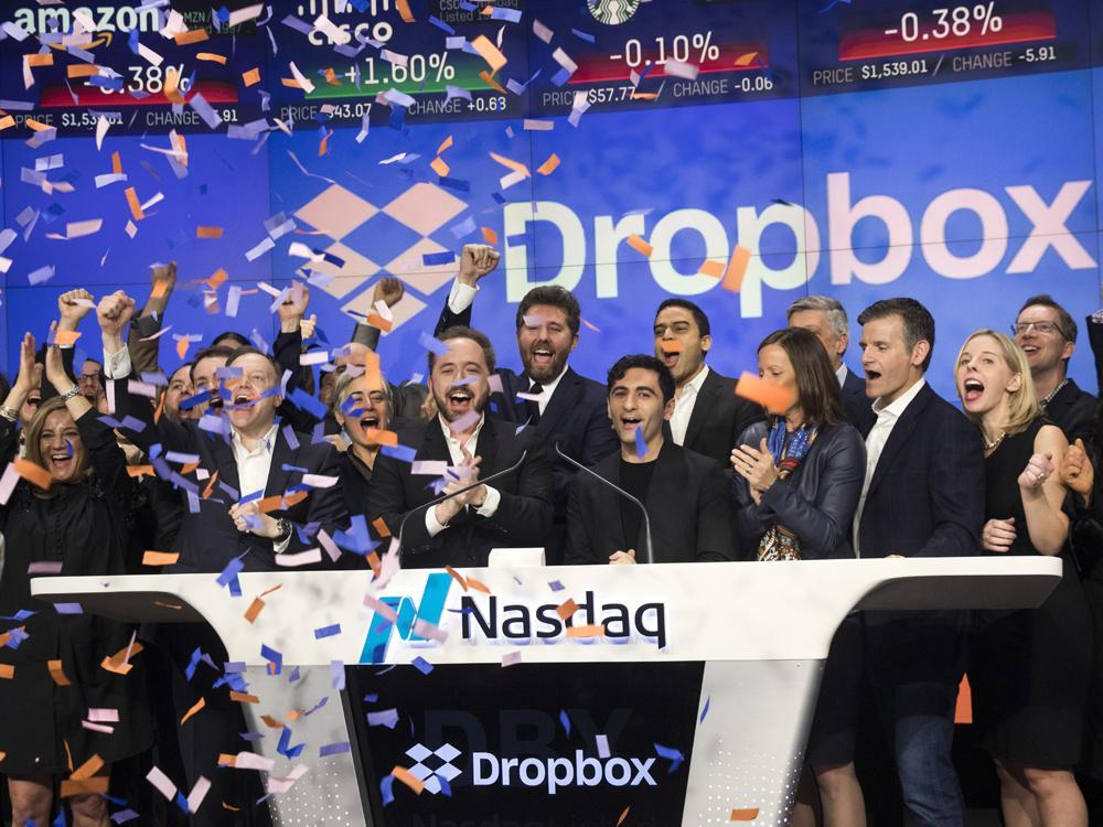 Dropbox shares surge 40% today in biggest tech debut since Snap