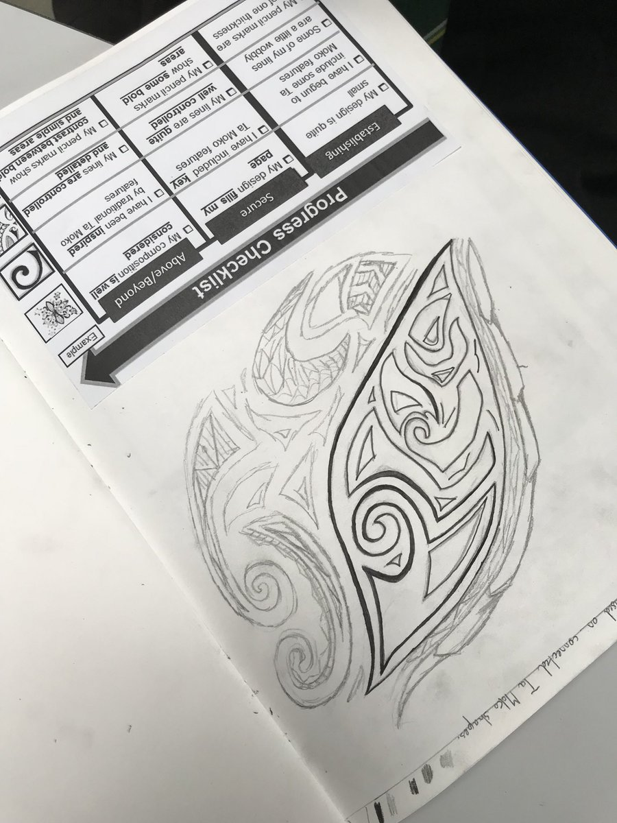 653384818 Some intricate Ta Moko inspired designs by Year 8 #culture #maoripic.twitter .com/TKaQL0Cy1w