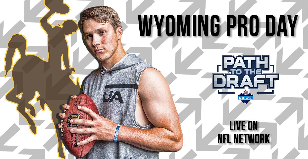 LIVE on NFL Network: @wyo_football Pro Day!  Join @RhettNFL, @MoveTheSticks and @MikeMayock as QB @J_Prodigy_5 throws before NFL scouts. #NFLDraft