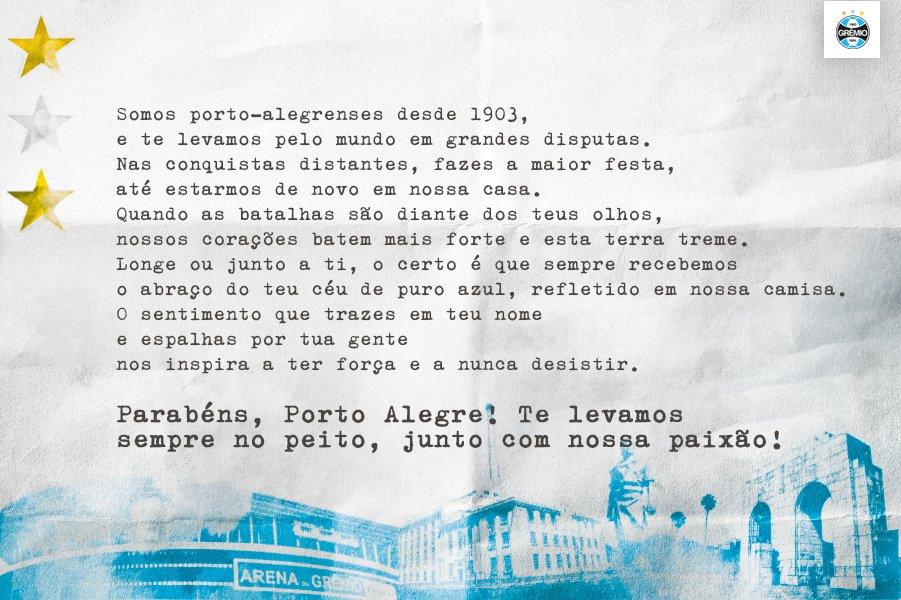 Parabéns, Porto Alegre, pelos teus 246 anos! 👏🏽 #PortoAlegre246Anos