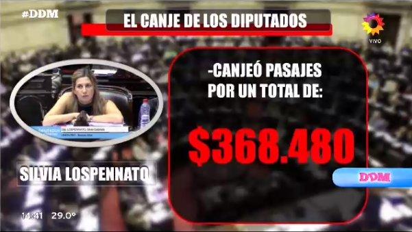 ¡EL CANJE DE LOS DIPUTADOS!  Silvia Losp...