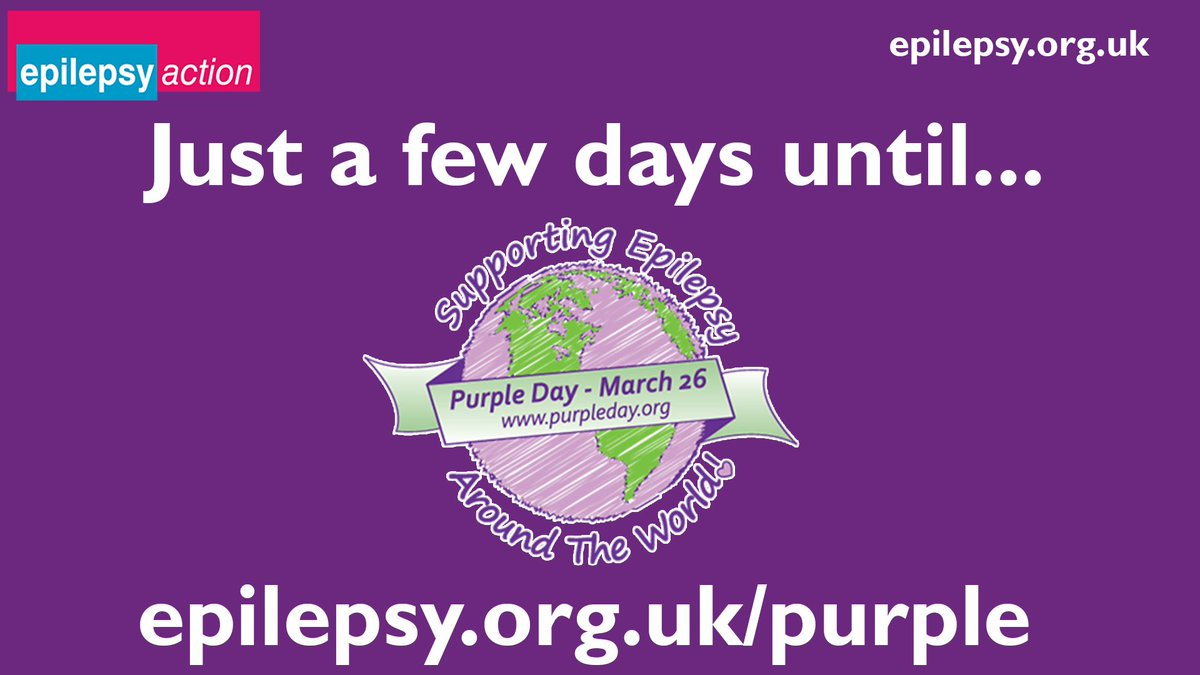 If you're hosting or taking part in a #PurpleDay event over the weekend please tag us and share some pictures! We will be in full swing on Monday for Purple Day. We have some incredible stories to share and an action packed day planned. Keep a look out!  #FridayFeeling