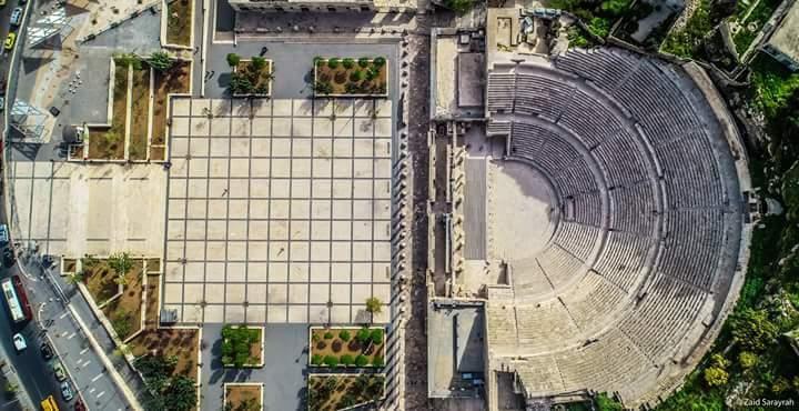 في عمان البديعة. المدرج الروماني من فوق....
