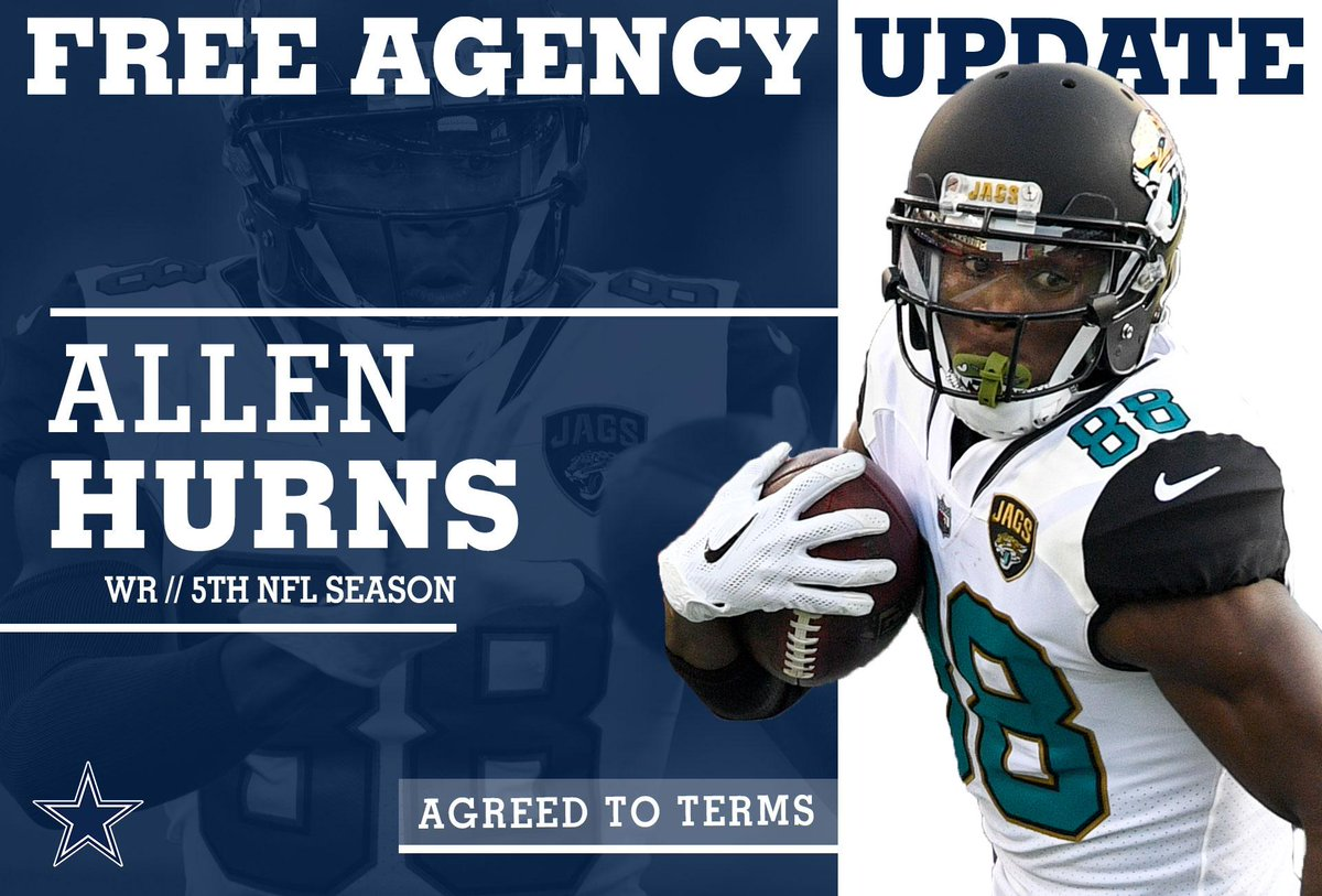 The #DallasCowboys have agreed to a 2-year deal with WR Allen Hurns.  MORE ➡️ https://t.co/aBc3RNigQ8