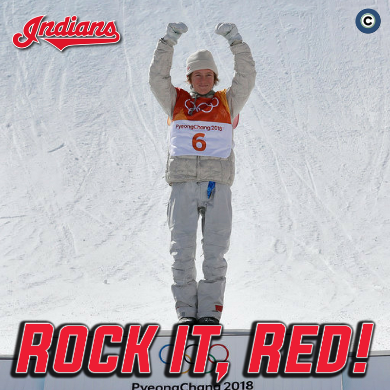 The Indians announced that U.S. Olympic gold medalist Red Gerard will toss out the first pitch at the Tribe's home opener on April 6. We're ready for Red to let it fly! Photo: AP.