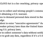 The CLOUD Act passed. It destroys privacy globally, so it had to be snuck into the $1.3 trillion omnibus without debate.   Encrypt. Encrypt. Encrypt. Go Dark.   When privacy is criminalized, only criminals have privacy. We got sold out, again.