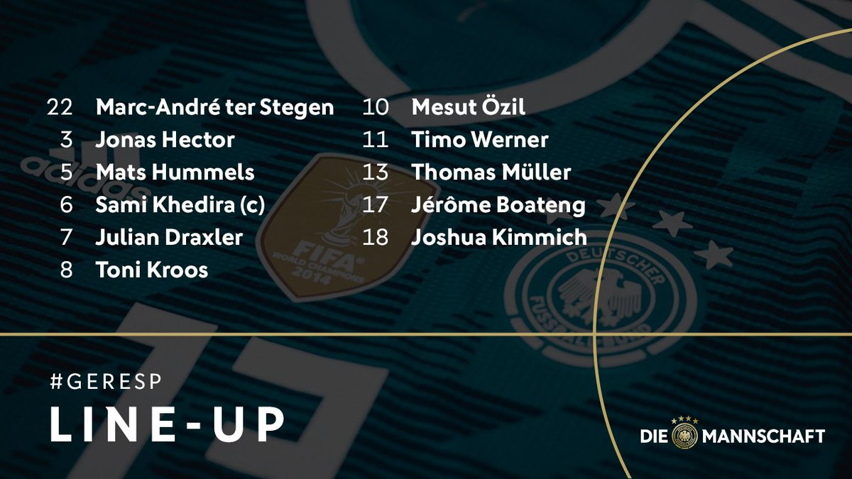 Here's your Germany starting XI to face...