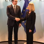 🇪🇺#EU facilitated #dialogue: HRVP @FedericaMog meets with @predsednikrs @avucic ahead of joint meeting w @HashimThaciRKS