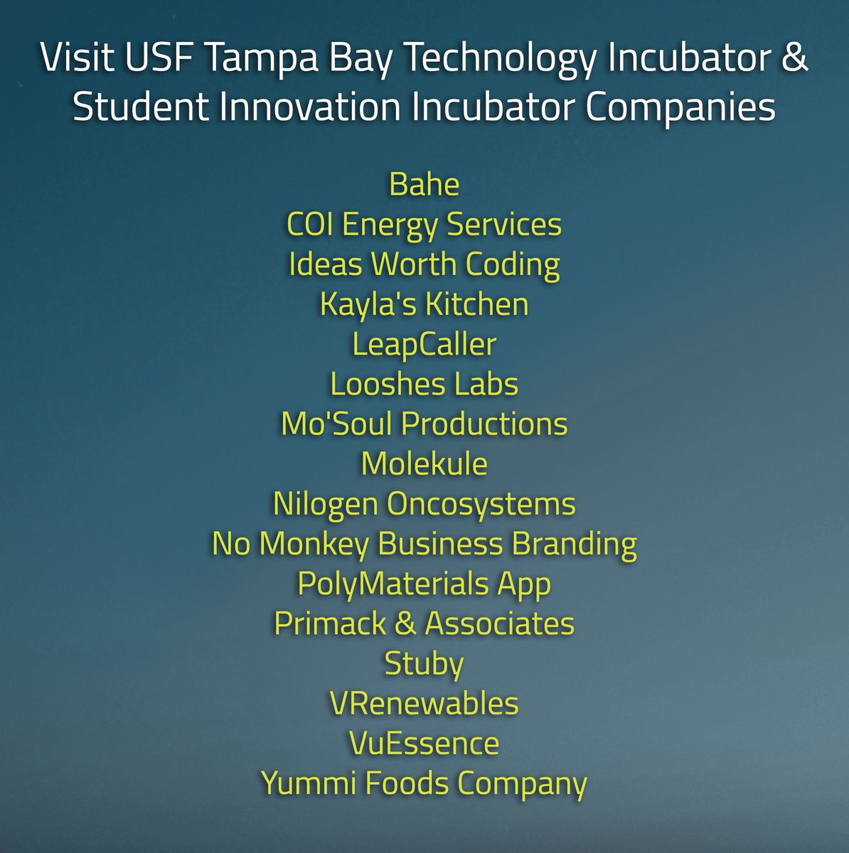 USF Research on Twitter: \