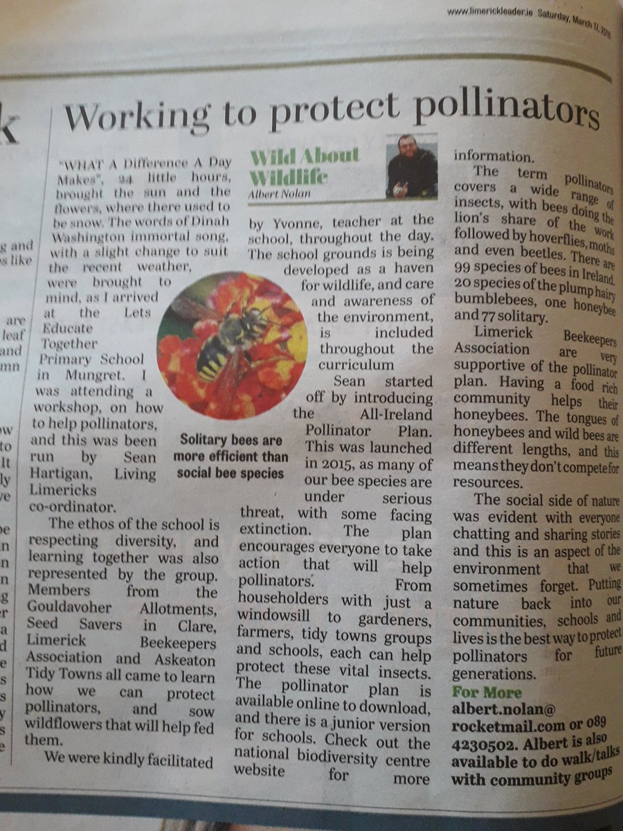Nice coverage  of our Plants for Bees wo...