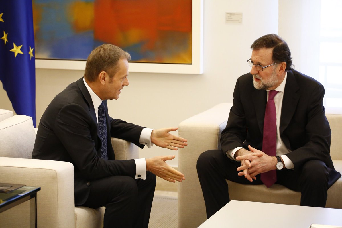 Very good consultations with PM @marianorajoy in Madrid ahead of #EUCO next week.