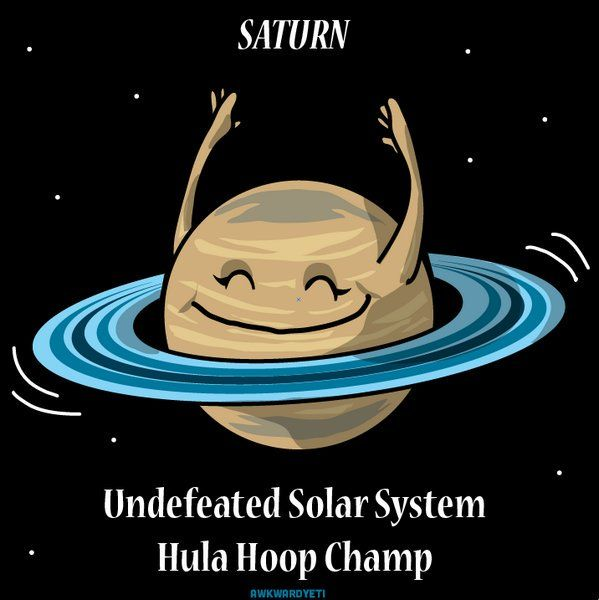 #Fun #Space: #Saturn, undefeated #HulaHoop champ! ► https://t.co/VrV4H0xcal by @TheAwkwardYeti