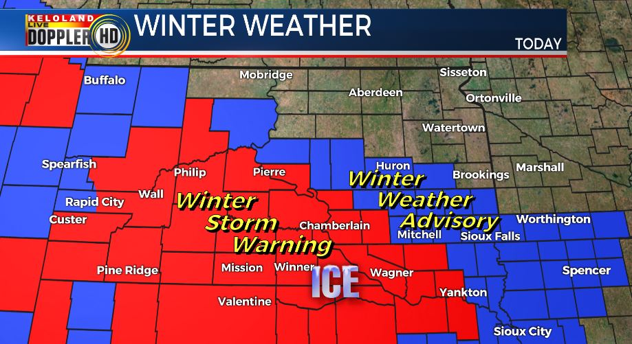Kelo Weather Map.Keloland News On Twitter Winter Weather Returns Today With A