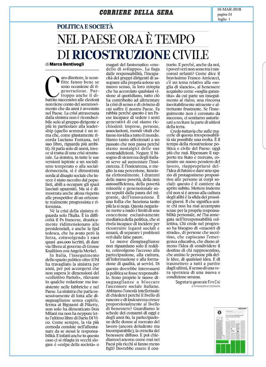 #16marzo #Bentivogli su @Corriere :le nuove #disuguaglianze non riguardano solo il #Reddito,coinvolgono l'accesso alla #partecipazione alla  #cultura all' #Informazione e alla #Formazione di qualità,ai servizi.Di questo dovrebbe interessarsi la politica se fosse #Responsabile  - Ukustom