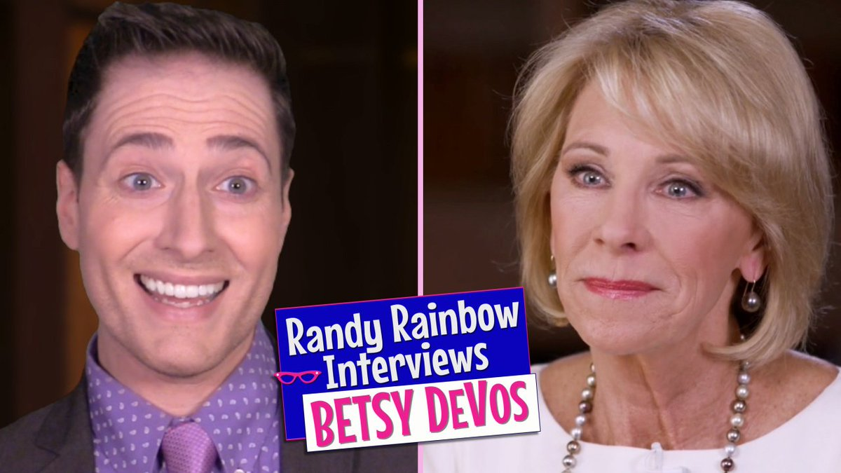 Image for the Tweet beginning: Nailed it, Bets.🍎✏️📚🍸 #NewVideo #BetsyDeVos
