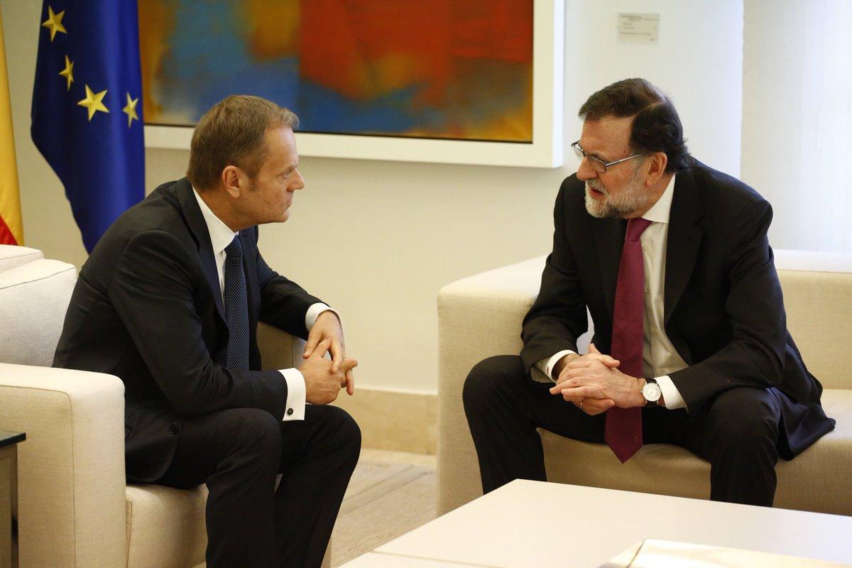 Excelente encuentro con el Presidente @marianorajoy en Madrid con vistas a la reunión #EUCO de la semana próxima.