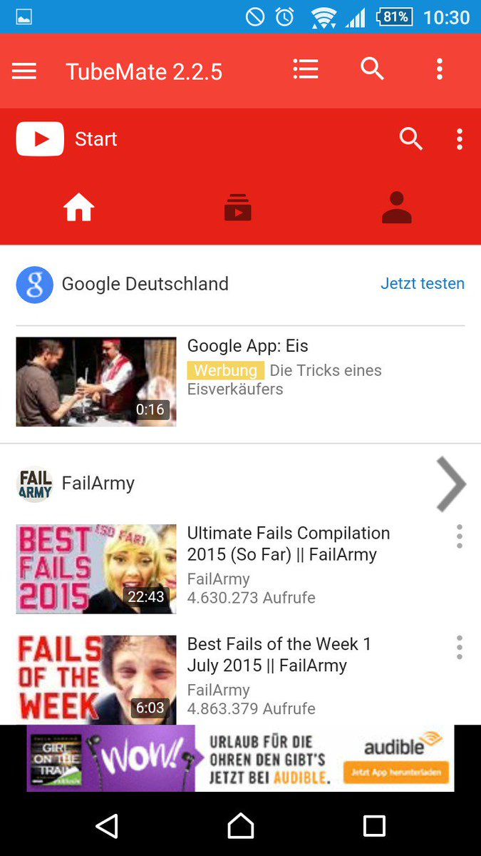 TubeMate rial YouTube Downloader APK Android App Englisch