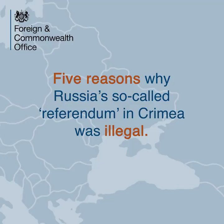 Today marks four years since #Russia's illegal referendum in #Crimea. The UK does not recognise its result. Here's why it didn't meet international standards. #CrimeaIsUkraine