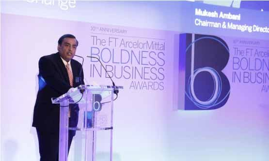 Reliance Industries wins  FT Arcellormittal boldness in business Award