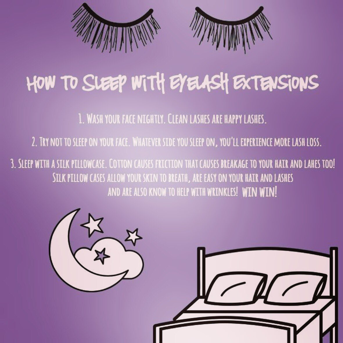Lashes By Ginny On Twitter Sleeping With Eyelash Extensions All