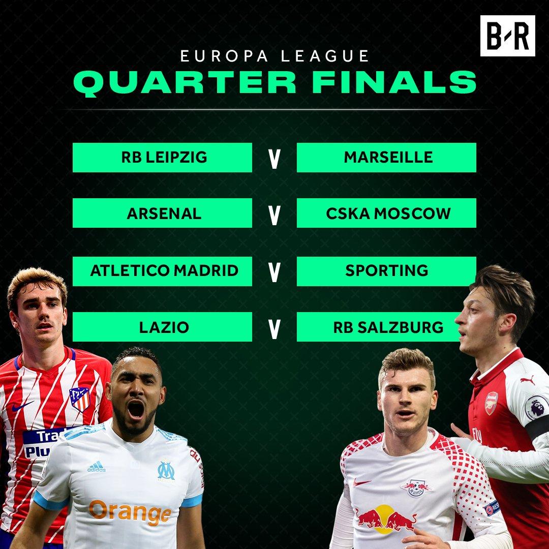 The Europa League quarter finals are set...
