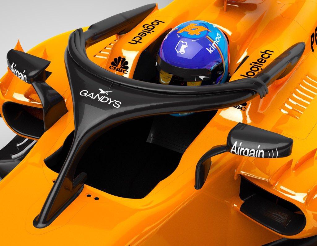 La empresa de ojotas Gandys patrocinará el Halo de McLaren en la Fórmula 1
