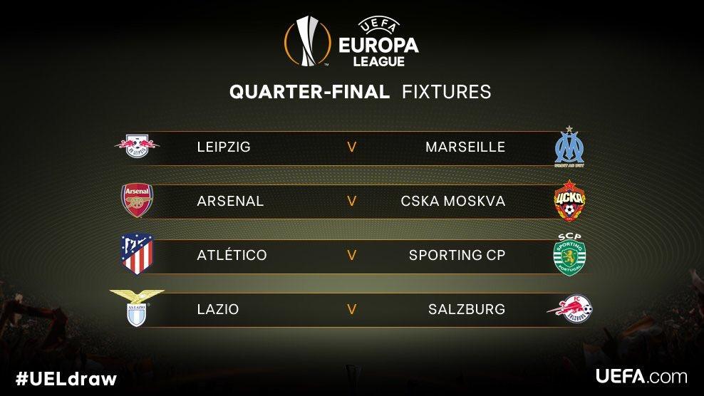 Match ultra excitant entre Leipzig et l'OM ⚽️🔥! Pas simple pour Arsenal le CSKA, mais mieux vaut ça que l'Atletico 🙂! #UELdraw #EuropaLeague @EuropaLeague ✅