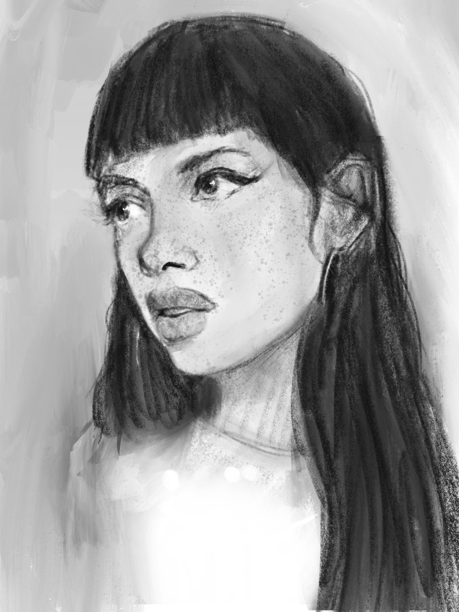 Jonathan t on twitter practicing from references and getting used to drawing on ipad portrait girl art dailyart procreate ipadproart shorthair