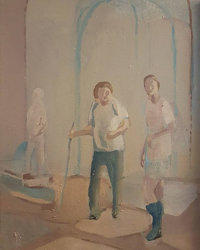#RaffaeleSantillo #painting #studiovisit https://t.co/GJuvOZEwvA