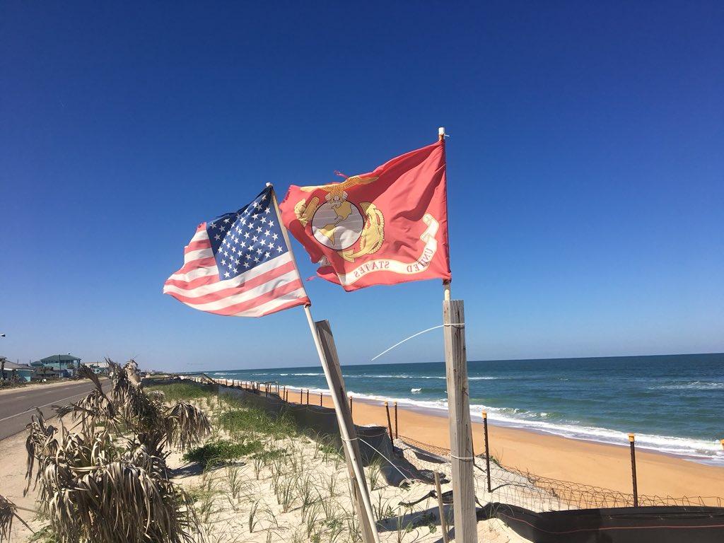 Flagler Beach had the flags flying yeste...