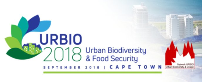 2018 URBIO (International Network for Urban Biodiversity and Design) International Conference will be held in Cape Town in September, this year's theme is: #UrbanBiodiversity & #foodsecurity  Submit your abstract now:  https://t.co/JULjs3iPcn