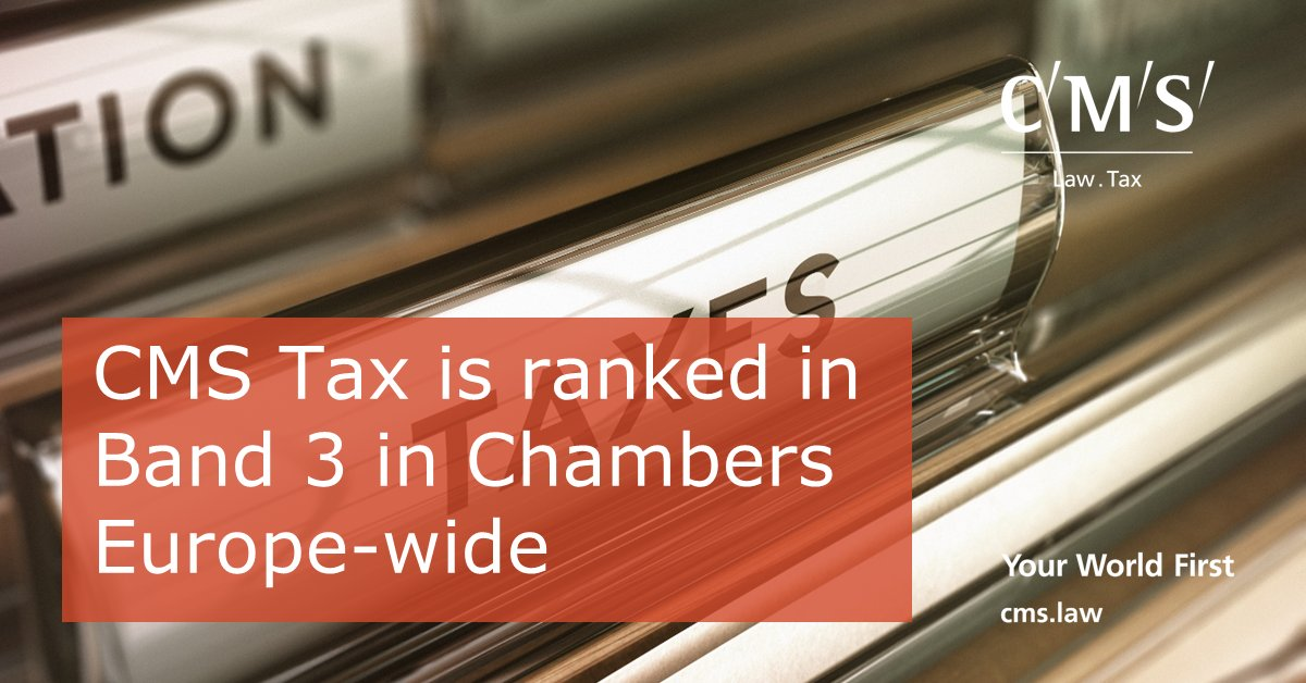 test Twitter Media - CMS Tax is ranked in Band 3 in Chambers Europe-wide! https://t.co/sElbmxy0EW