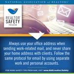 #RealtorSafety Tip of the Week... #MailAddress