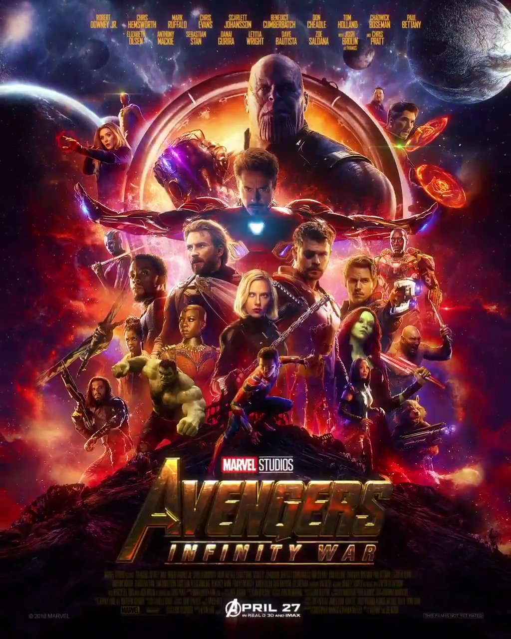 Destiny arrives. Get tickets to Marvel Studios' 'Avengers: #InfinityWar' now: https://t.co/kctg8VkHan https://t.co/u6BrgFOqhc