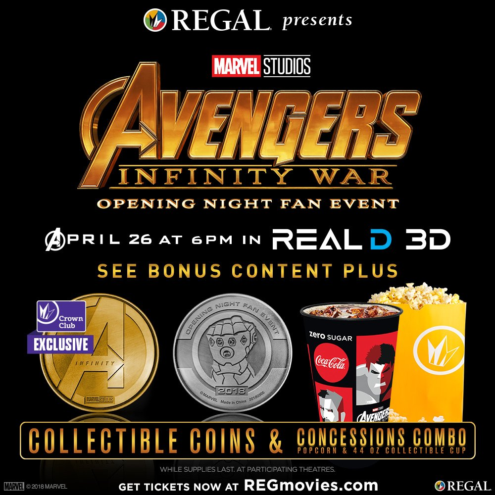 """Regal Cinemas on Twitter: """"Be among the first to see ..."""