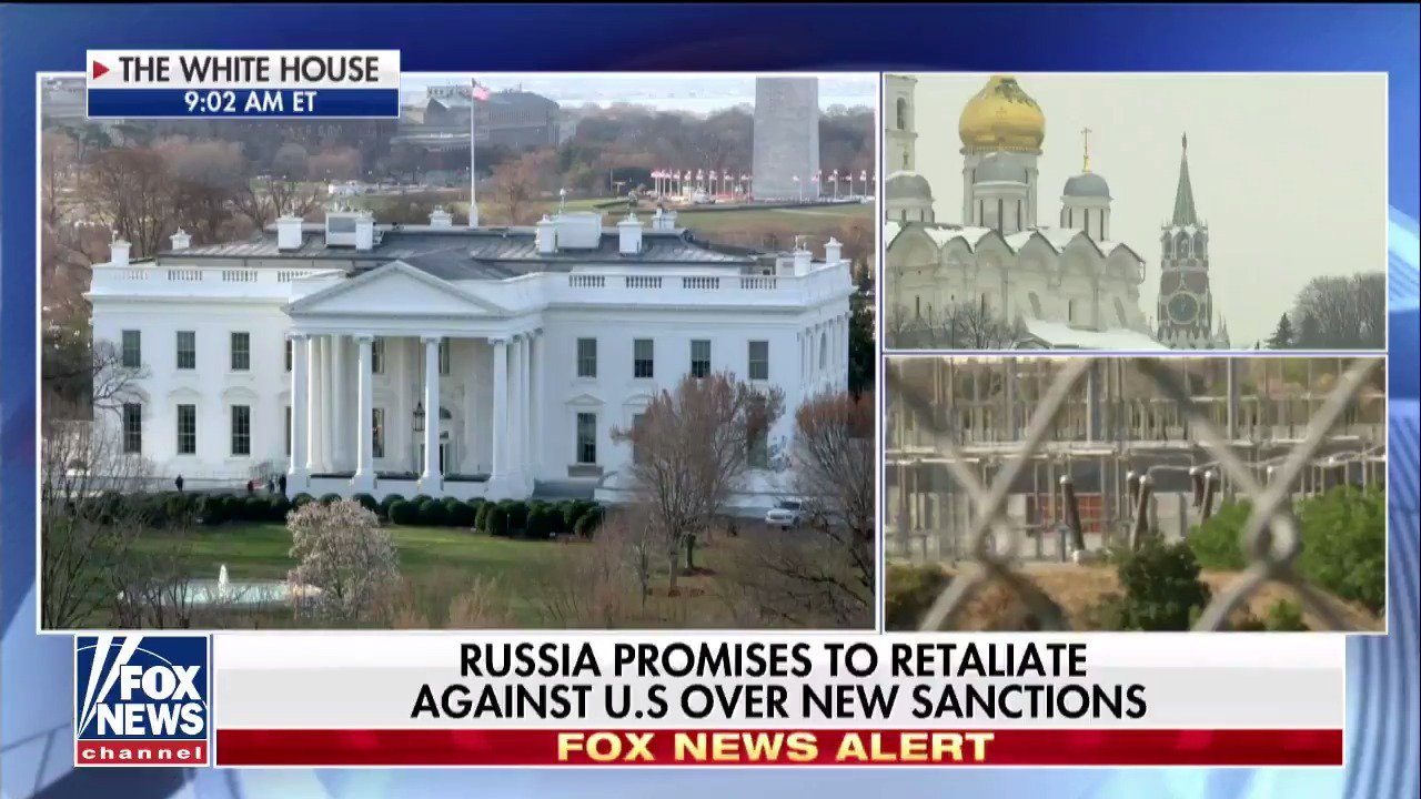 Russia promises to retaliate against U.S. over new sanctions. https://t.co/RbUD81w3Jy