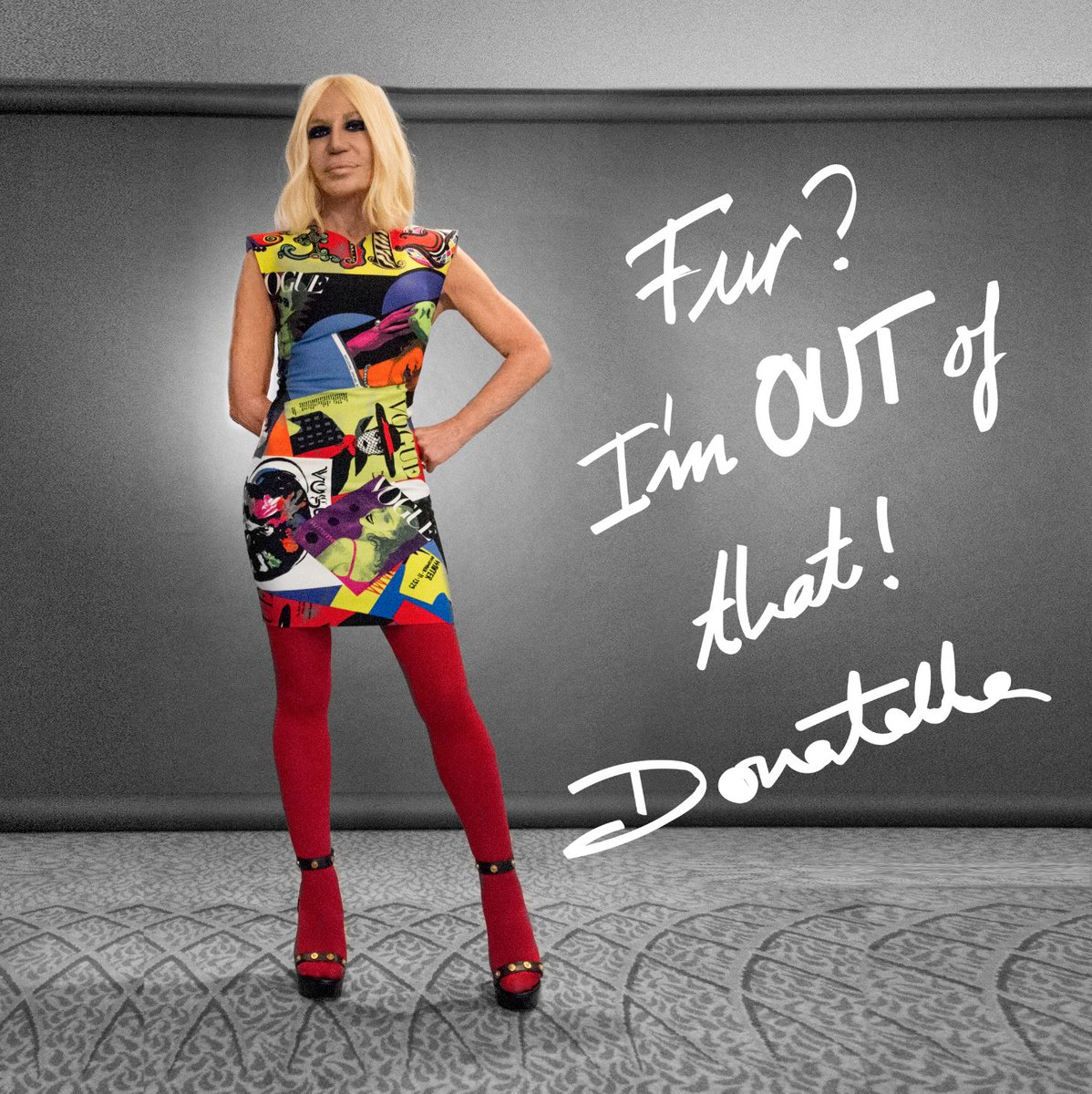 """Fur? I am out of that. I don't want to kill animals to make fashion."" #DonatellaVersace Versace is proud to take this ethical step into the future and hopes it will inspire innovation and raise awareness. Versace will phase out all fur products from the 2019 collections onward."