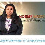 A huge congratulations to Noemy Mozo, the 2018 Laws of Life 11-12 High School Division winner! Check out her speech here: https://t.co/50BVrHWpPw #CCPSSuccess