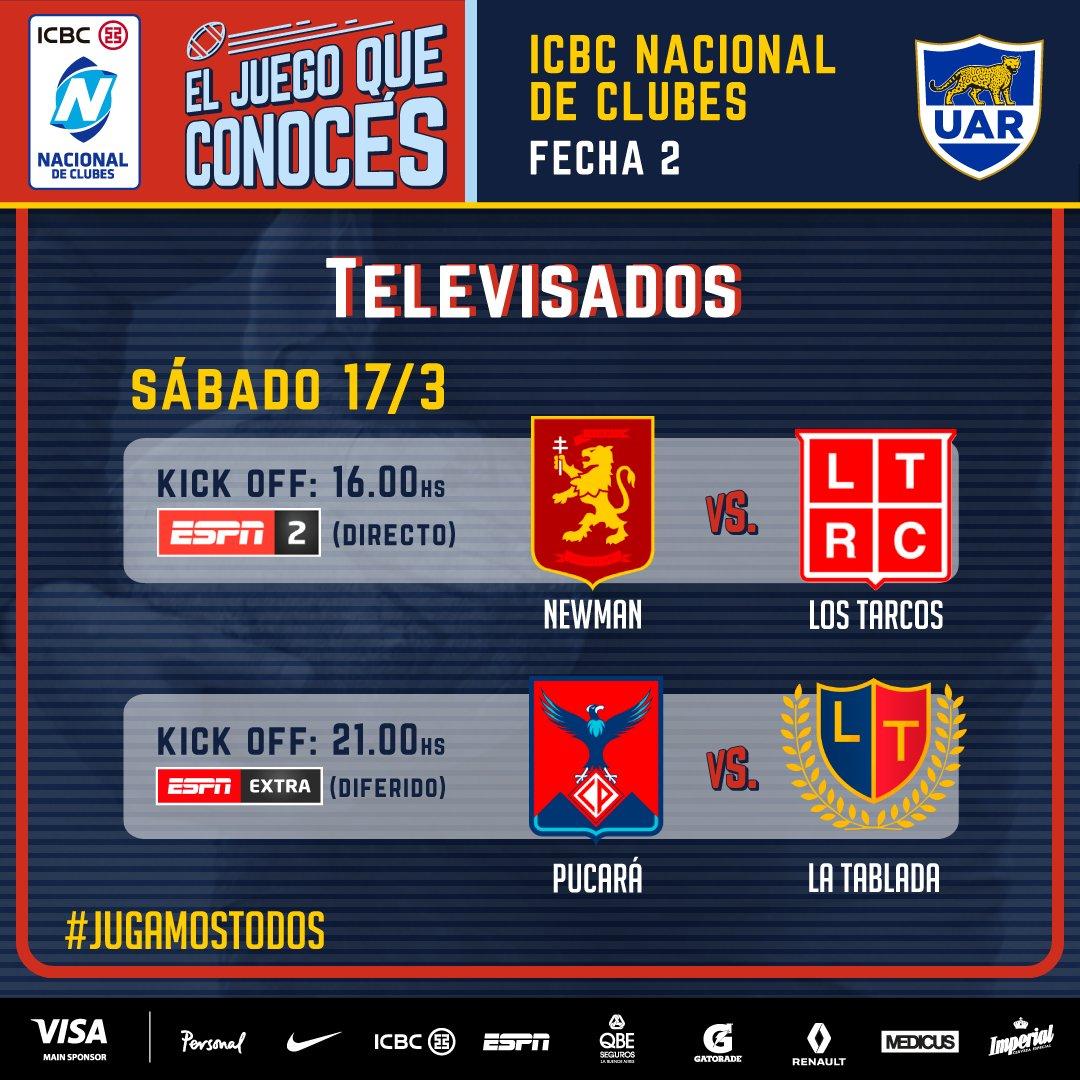 Newman - Los Tarcos (en vivo, Nacional de Clubes, ESPN 2).