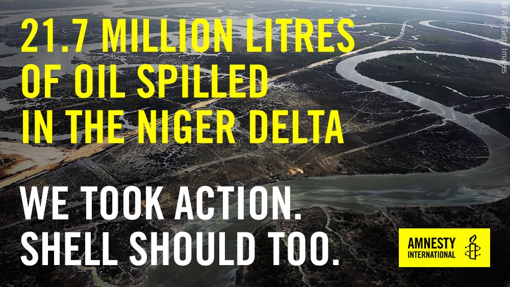 With your help, we have uncovered just how little @Shell &  are@eni doing to prevent oil spills. The people of the Niger Delta have paid enough. This needs to change ➝ https://t.co/7b0HXYUlLj