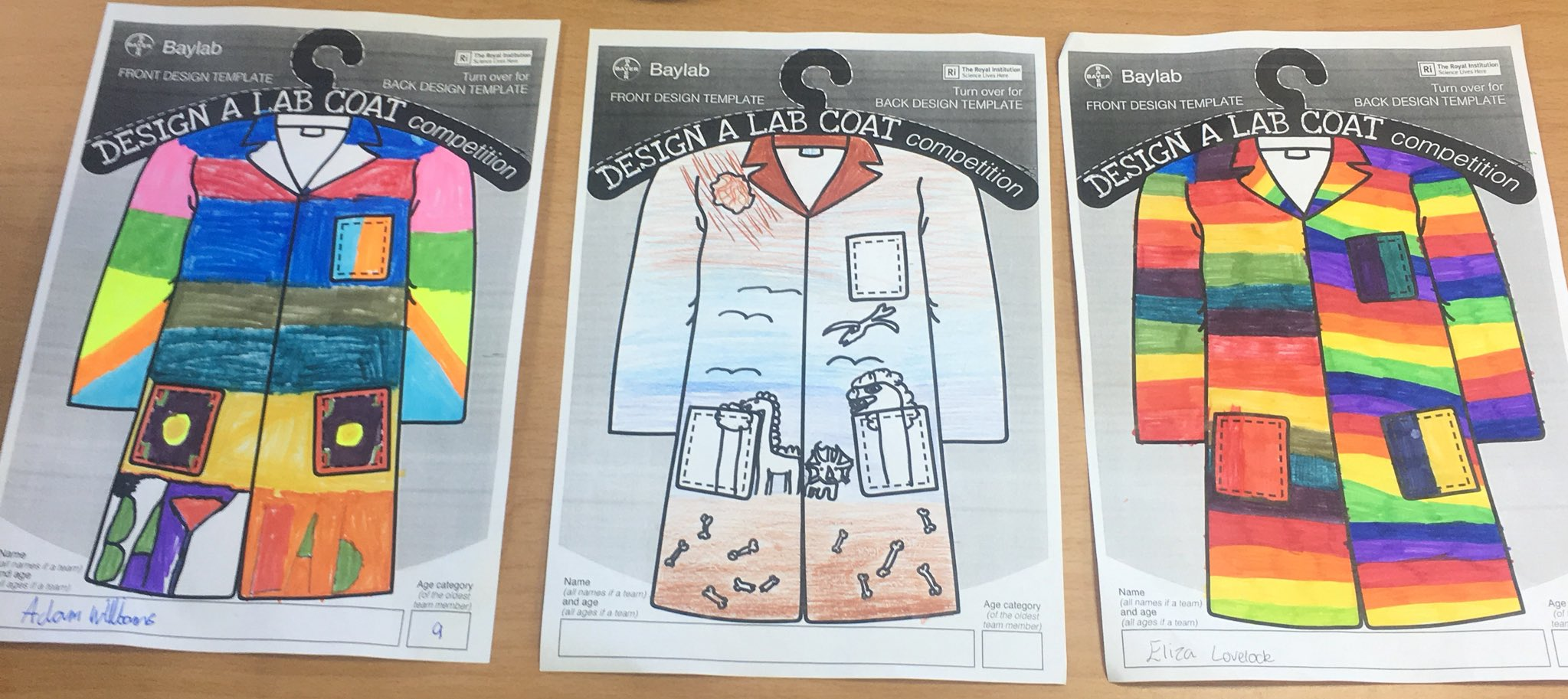 Nine Mile Ride On Twitter Design A Lab Coat Entries For Our Science Day Baylab