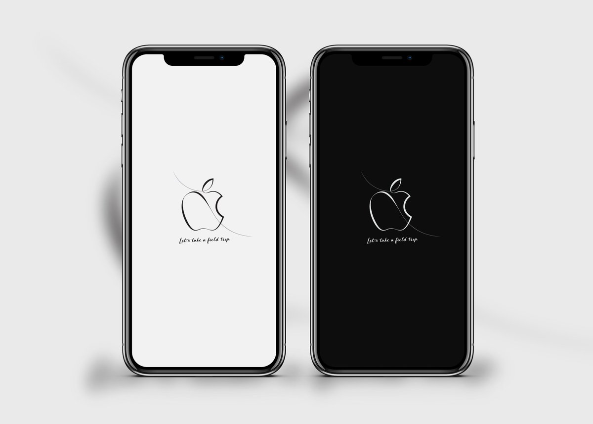 Apple March 27th Event Wallpaper White And Black Version For IPhoneX All IPhone Devices Download