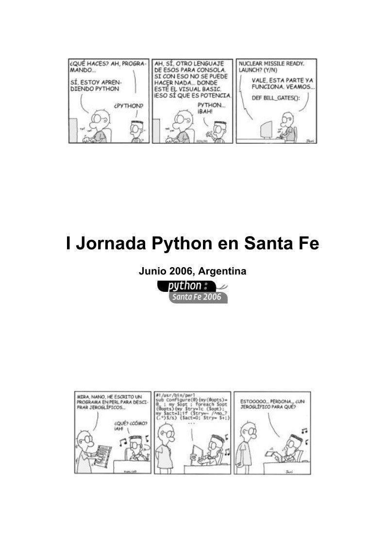 #PDF de #Programación - I Jornada Python...